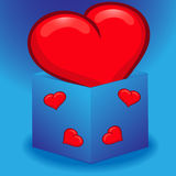 Heart in a box Stock Images