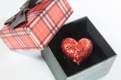 Heart in box Royalty Free Stock Photos