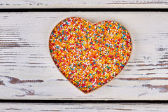 Heart box with sprinkle dots. Stock Photos