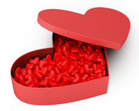 Heart Box of Valentine's Candy Royalty Free Stock Image