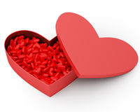 Heart Box of Valentine's Candy Royalty Free Stock Images