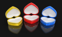Heart boxes (clipping path included) Royalty Free Stock Photo