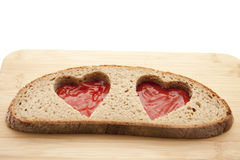 Heart in the bread Royalty Free Stock Image