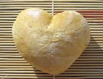 Heart bread Royalty Free Stock Images