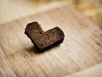 Heart of bread Royalty Free Stock Photography
