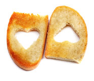 Heart bread toast Stock Photography