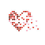 Heart breaks into segments. Royalty Free Stock Photos