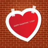 Heart on the brick wall Stock Photo