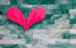 Heart on brick wall Royalty Free Stock Photo