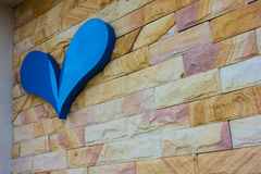 Heart on brick wall Royalty Free Stock Photos