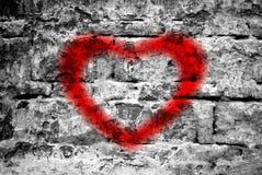 Heart on a brick wall Stock Photo