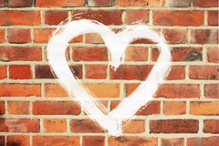 Heart bricks stock images