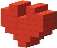 Heart of bricks Stock Photo