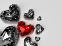 Heart brilliants Royalty Free Stock Images