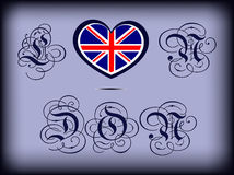 Heart of Britain Royalty Free Stock Photo