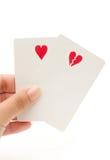 Heart and broken heart shaped symbol Royalty Free Stock Photos