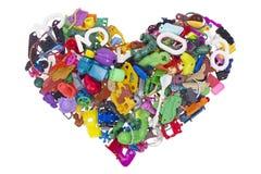 Heart from broken  no name toys Royalty Free Stock Photos