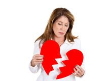 Heart broken woman Stock Images