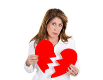 Heart broken woman Stock Image