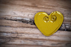 Heart on Broken Wood Royalty Free Stock Photos