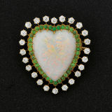 Heart Brooch Royalty Free Stock Photography