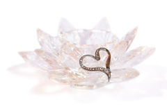 Heart Brooch on Crystal Royalty Free Stock Image
