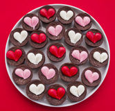 Heart Brownies Royalty Free Stock Images