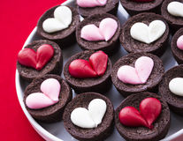 Heart Brownies Stock Photo