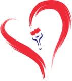 Heart brush love Stock Images