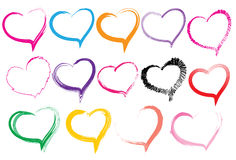 Heart brush stroke Royalty Free Stock Image