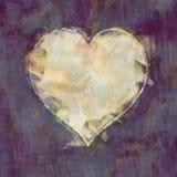 Heart brush stroke background. 2D illustration of an abstract haert brush strokes background Stock Photo