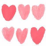 Heart brushes water Royalty Free Stock Photos