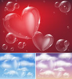 heart bubble Stock Photos