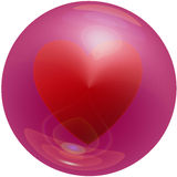 Heart Bubble. Symbol for love, Heart in a bubble royalty free illustration