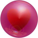 Heart Bubble Stock Photography