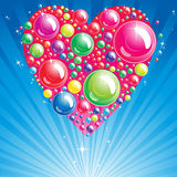 Heart Bubble background. Illustration for your design Stock Images