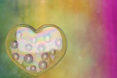 Heart bubble on colorful background. 3D illustration. Heart bubble on colorful background. 3D illustration stock illustration