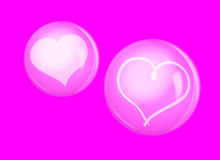 Heart in bubble. Royalty Free Stock Photos
