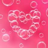 Heart from the bubble Royalty Free Stock Image