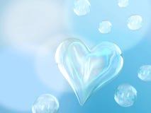 Heart bubbles Royalty Free Stock Image