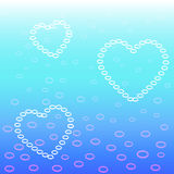 Heart bubbles Stock Photo