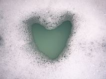 Heart bubbles royalty free stock image