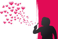 Heart Bubbles. Pink Heart Bubbles Vector Illustration Stock Photos