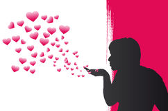 Heart Bubbles. Pink Heart Bubbles Vector Illustration Stock Images