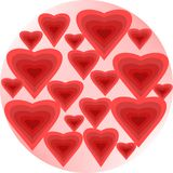 Heart bubbles Stock Images