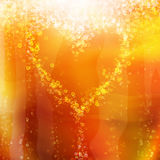 Heart of the bubbles in a glass of champagne Stock Images