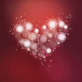 Heart bubbles Stock Images