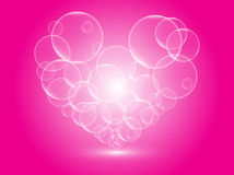 Heart bubbles. On pink background Royalty Free Stock Photos