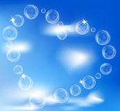 Heart of the bubbles in the sky Stock Images
