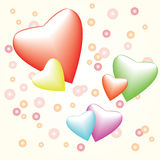 Heart with bubbles Stock Image